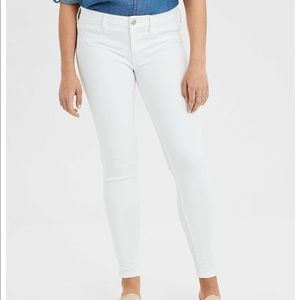 White low rise skinny jeans